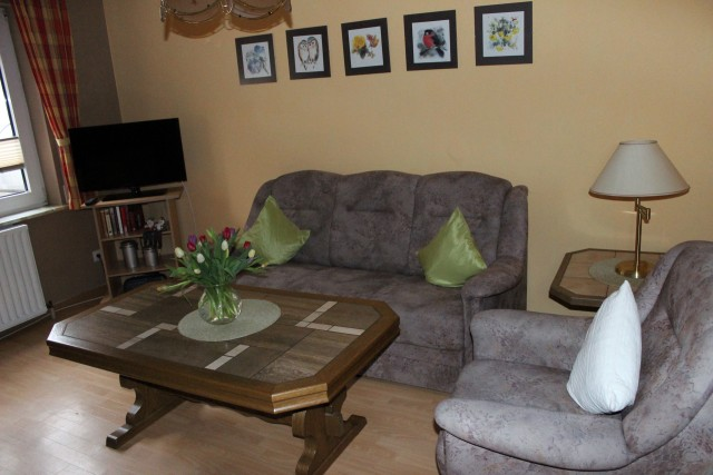 Wohnzimmer der kleinen Ferienwohnung