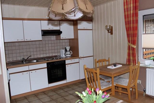 Küche der kleinen Ferienwohnung